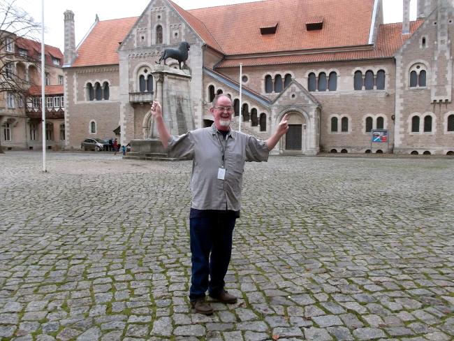 Andrew Leman auf dem Braunschweiger Burgplatz