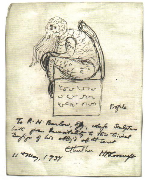 Cthulhu. Skizze von Lovecraft (1934)