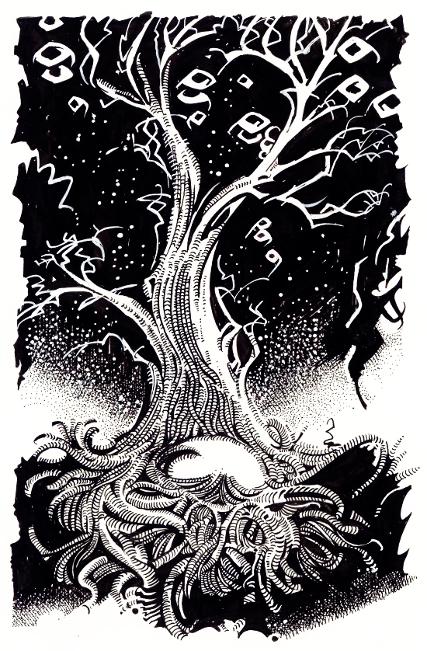 Frank Belknap Long: The Space Eaters. Illustration von Johann Peterka