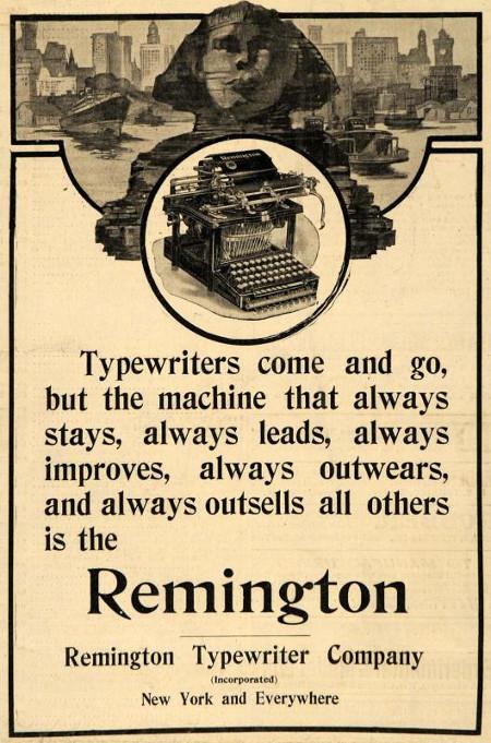 Remingtone Anzeige 1907