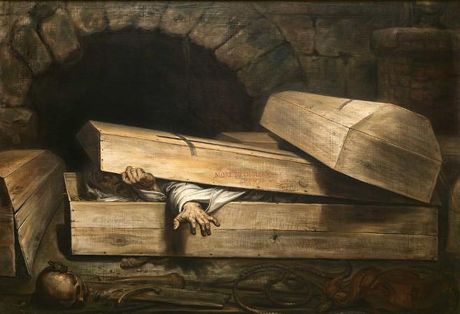 Antoine Wiertz: Der lebendig Begrabene (1854)