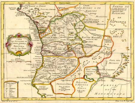 Karte von Westafrika