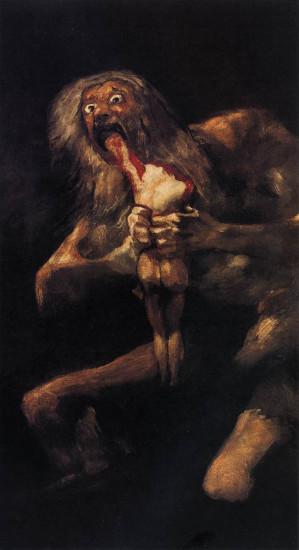 Francisco de Goya: Saturn frisst eines seiner Kinder